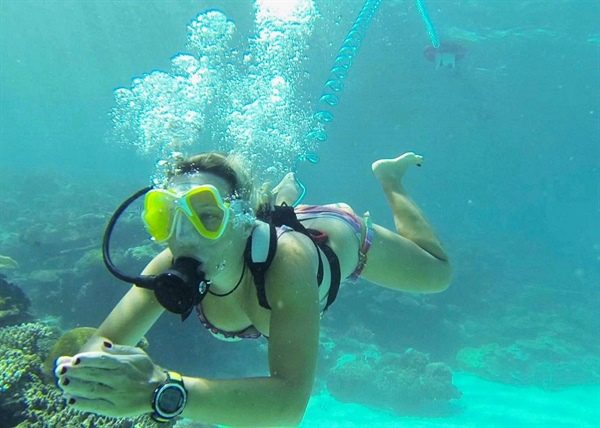 AirBuddy snorkeling meets SCUBA