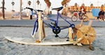 Bike-powered surf-paddleboard
