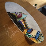 Painted surfboard by David Gilmore