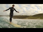 Winter surfing in the depths of Cornwall