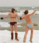 Beach babes celebrate the winter