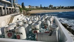 Jim Beam builds giant cans on Bondi Beach