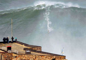 Garrett McNamara has surfed a giant wave in Nazaré