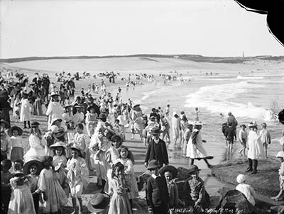 Bondi Beach circa 1900, before surf bathing became popular