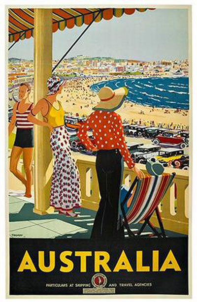 Poster commissioned in 1929 by the council to promote Bondi