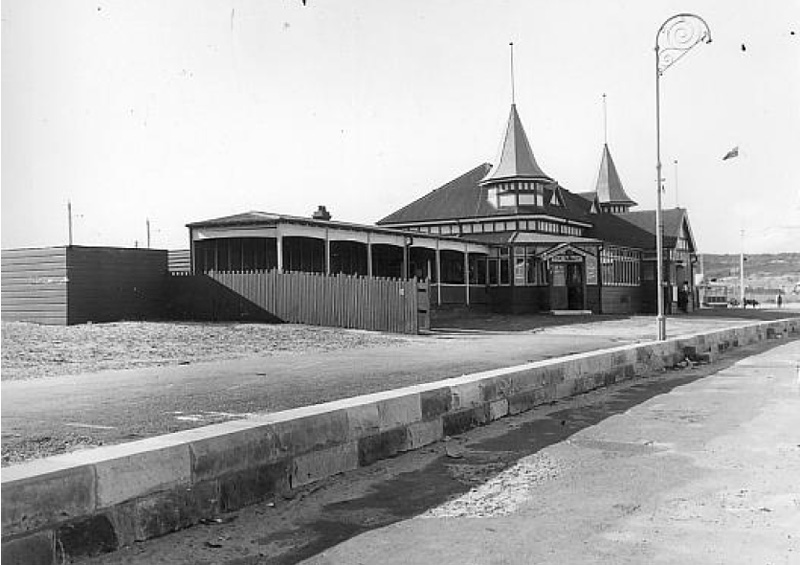 Bondi dressing sheds built in 1911