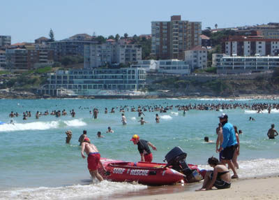 Bondi Surf Rescue boat