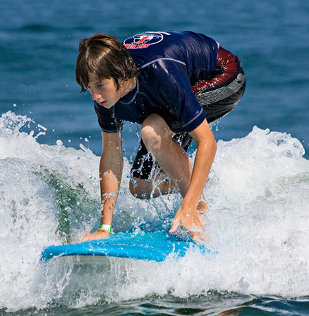 Standing up - learning to surf